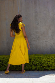 ERRE Bow dress in yellow