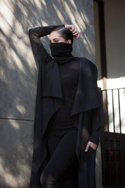 ERRE black waterfall coat