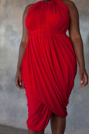 Red multi-way dress