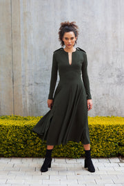 Olive COMMANDER fit and flare dress