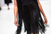 Wine Swish Fringe Dress