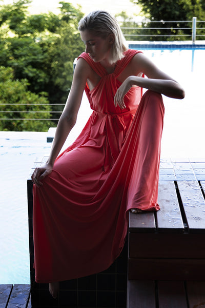 ERRE - Coral twist dress