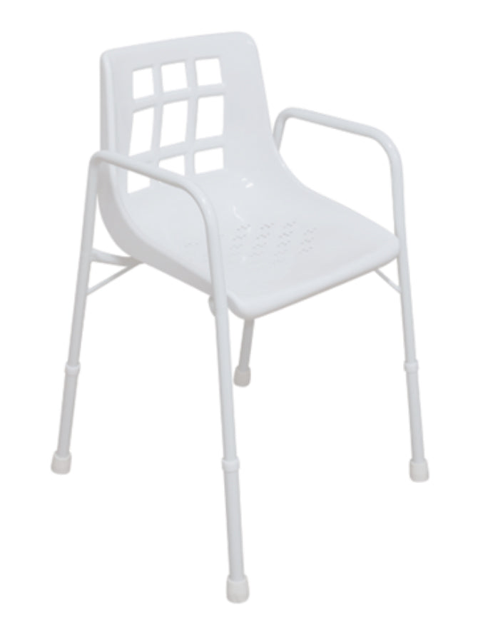 ASPIRE SHOWER CHAIR - WIDE - TREATED STEEL
