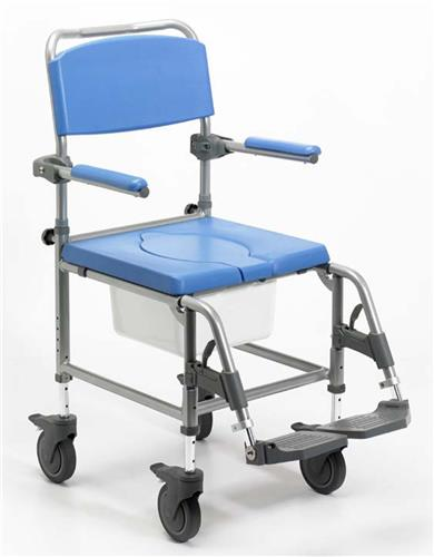 mobile, mobile shower chair, shower chair, shower chair with wheels, commode