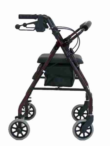 "REDGUM ADJUSTABLE SEAT HEIGHT WALKER - 6"" WHEEL"