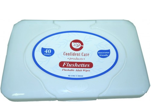 adult wipes, flushettes, confident care
