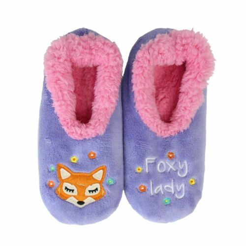 slumbies, non slip slipper, slippers, foxy lady