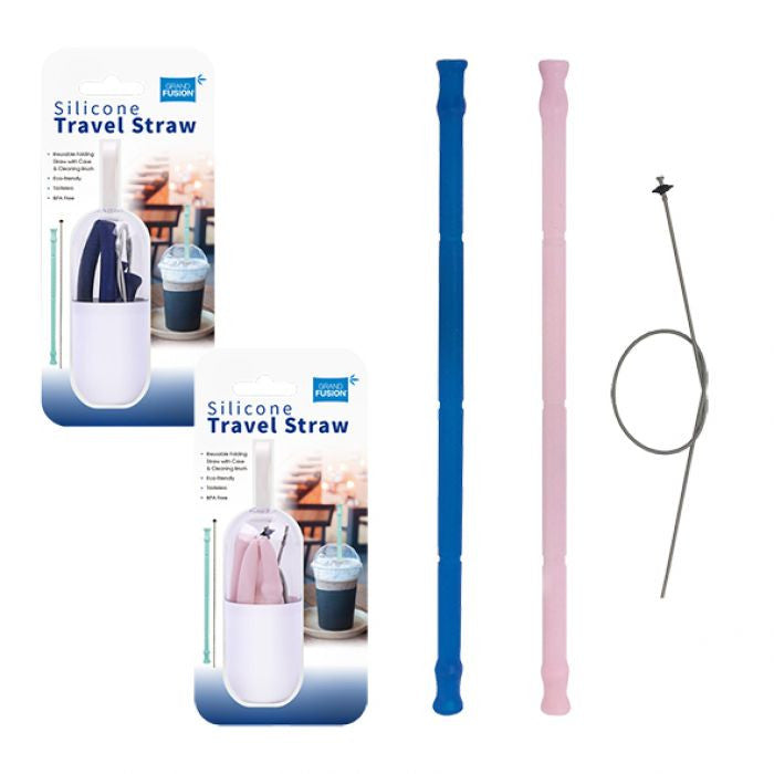 TRAVEL STRAW - SILICONE WITH CLEANER
