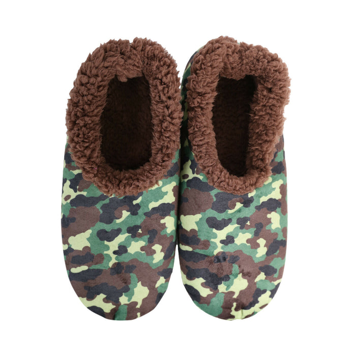 SLUMBIES SLIPPERS - CAMO GREEN