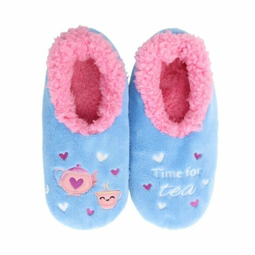 SLUMBIES SLIPPERS - TIME FOR TEA