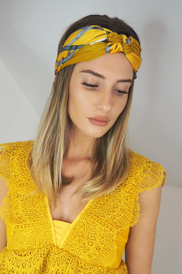 image 1 of CASEY SILKY PRINTED HEADBAND 4 COLOURS