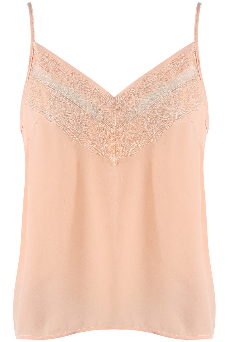 CARMEL LACE CAMI PINK
