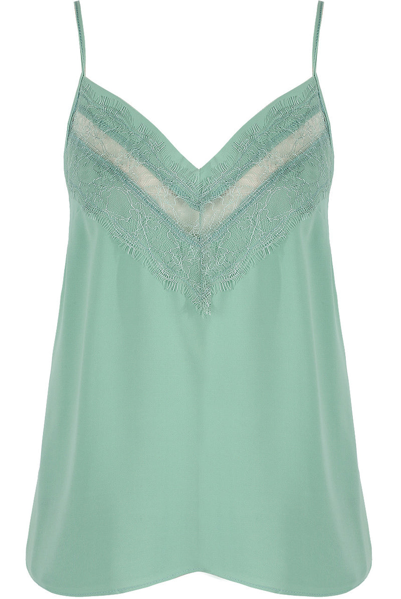 CARMEL LACE CAMI GREEN