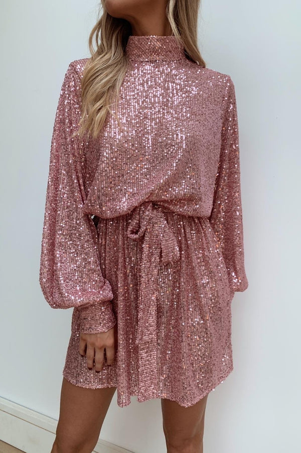 FIFI PINK SEQUIN DRESS