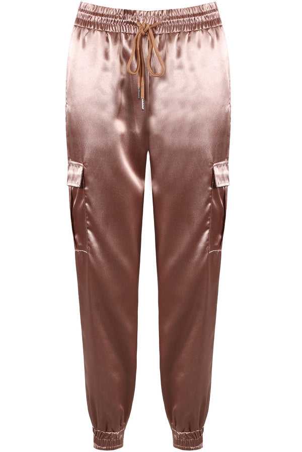 SATIN LUXE JOGGER PANTS PINK