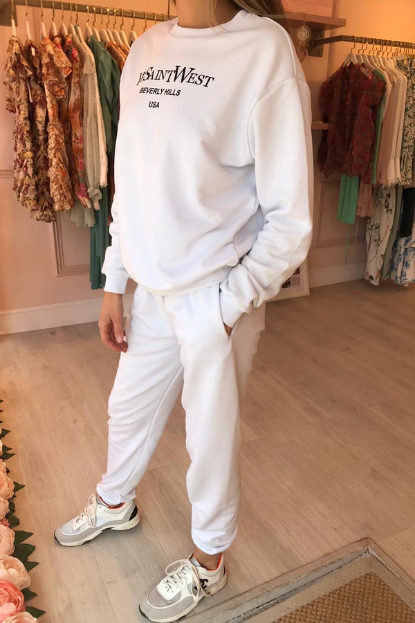 SAINT WEST TRACKSUIT WHITE