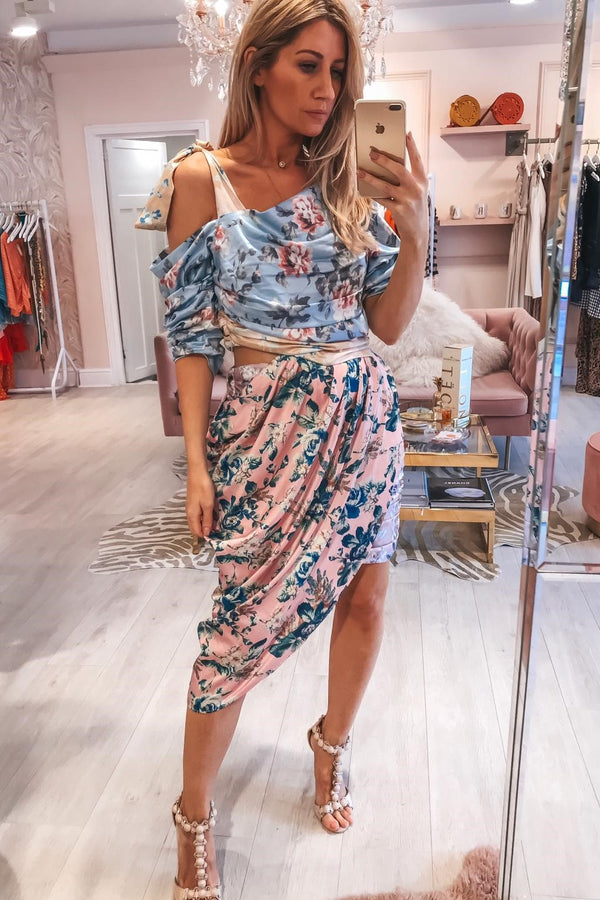 ABIGAIL FLORAL MIDI DRESS