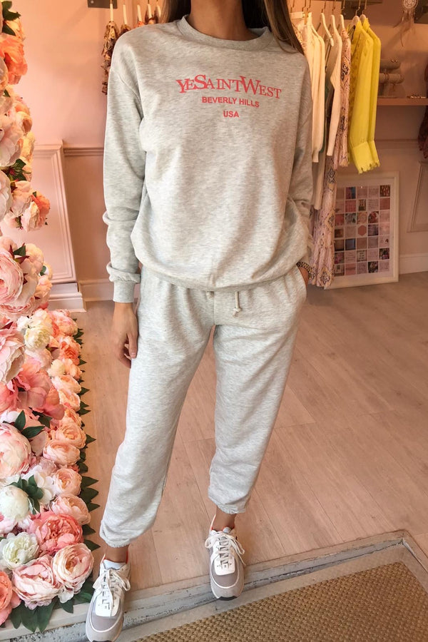 SAINT WEST TRACKSUIT GREY