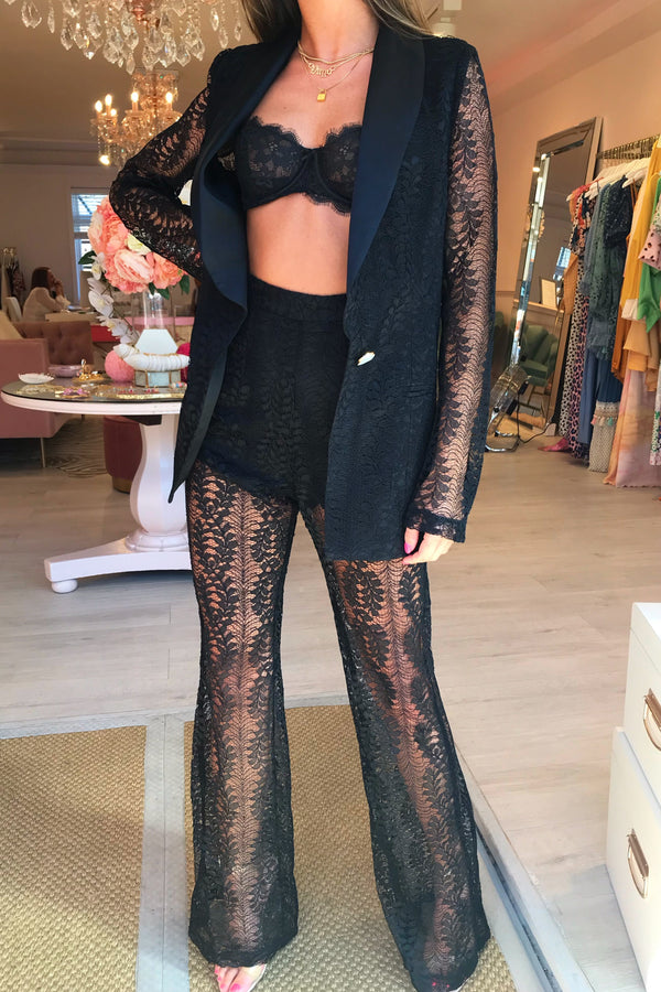 PRIMAVERA TROUSER - BLACK LACE