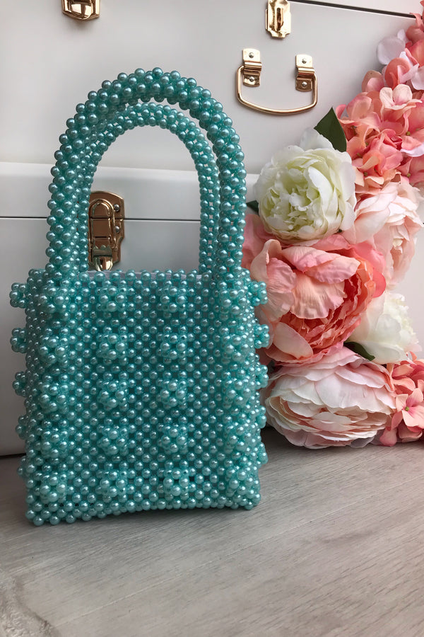 PEARL BAG TURQUOISE