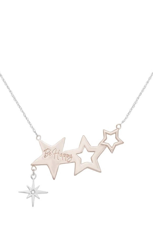 KT X BIBI STARRY ROSE GOLD CELESTIAL NECKLACE