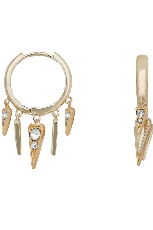 KT X BIBI ARROWHEAD GOLD HUGGIE EARRINGS