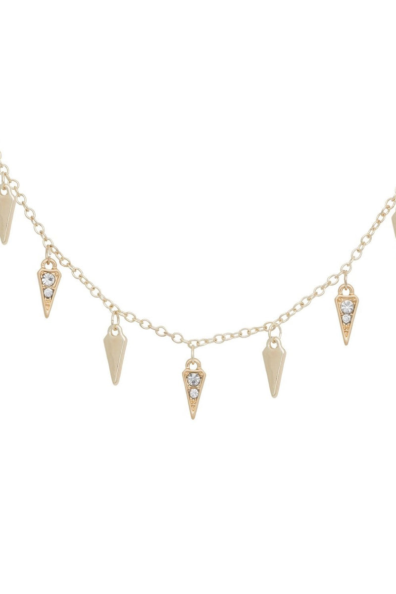 KT X BIBI GOLD ARROWHEAD NECKLACE