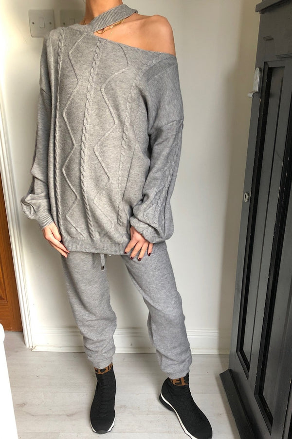 image 2 of GREY CHOKER SUIT