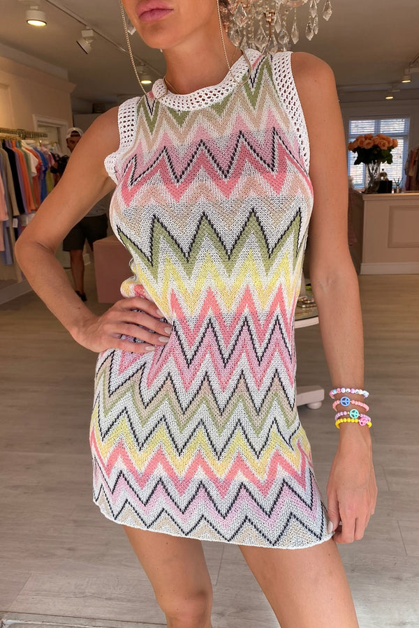 * Pre order* MISSE KNITTED CHEVRON DRESS