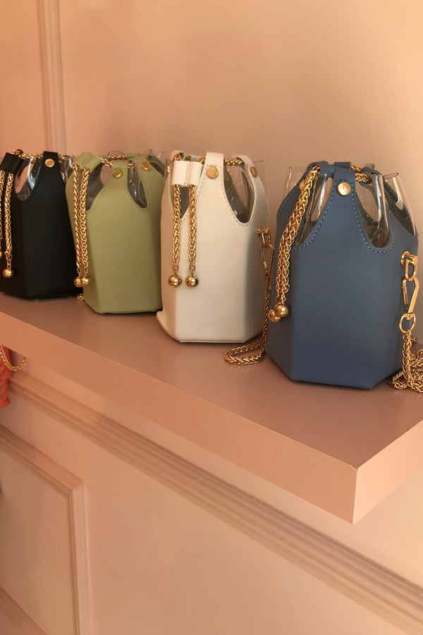 MINI PASTEL BLUE/GOLD BAG