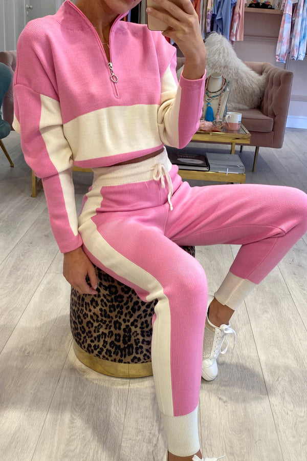 ARIA PINK/CREAM LOUNGE SET