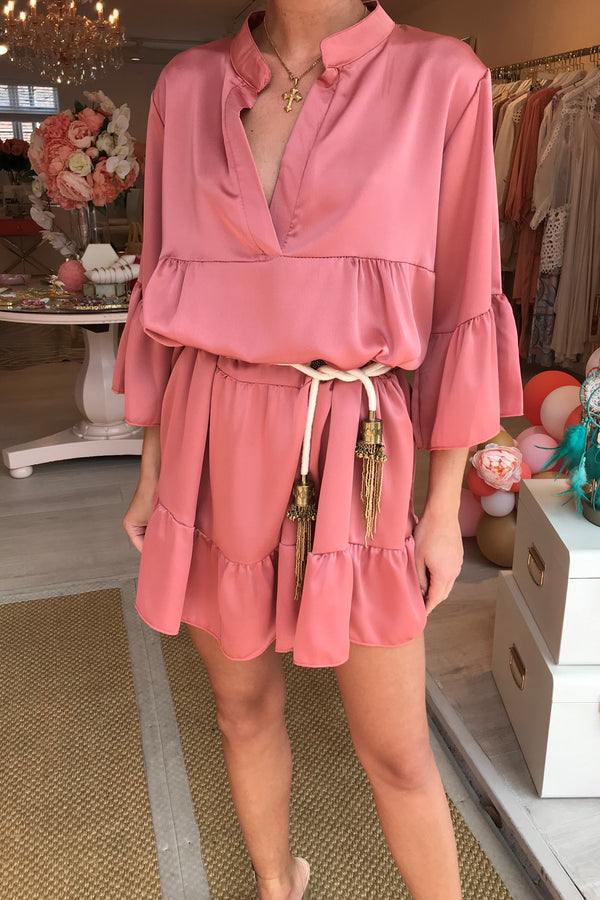 PRIMROSE SILKY BLUSH PINK DRESS