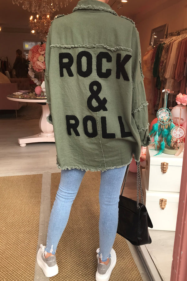ROCK N ROLL KHAKI JACKET