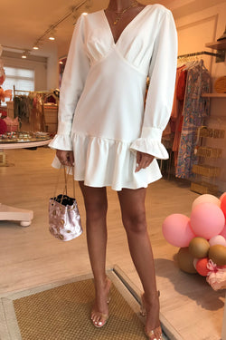 PASTELLE WHITE MINI DRESS