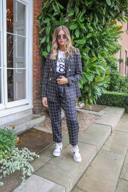 image 1 of BROOKE BLACK CHECK TROUSER