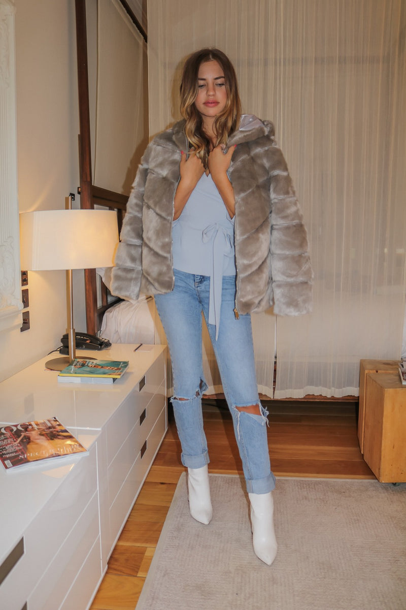 image 5 of GREY STREET CHIC FAUX FUR COAT