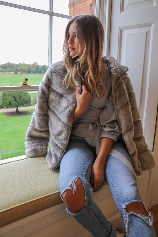 image 2 of GREY STREET CHIC FAUX FUR COAT