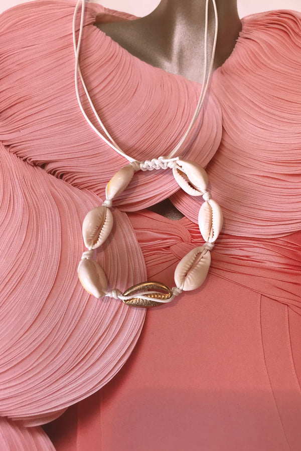SEA SHELL BRACELET ALL CREAM 1 GOLD
