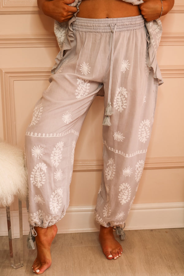 image 2 of LAMAR CLOUD EMBROIDERED BEACH TROUSER