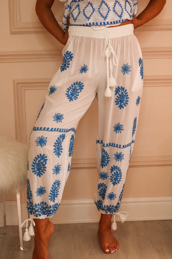 image 2 of LAMAR CHINA EMBROIDERED BEACH TROUSER