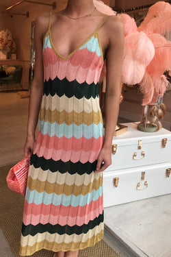 BORA BORA CHEVRON DRESS PINK/BLUE