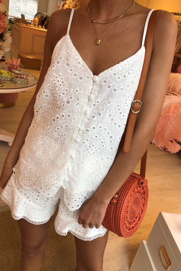 VITA WHITE EMBROIDERY TWO PIECE