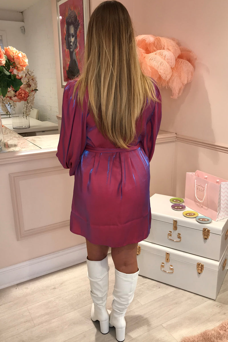 PINK/PURPLE METALLIC SHIRT TUNIC