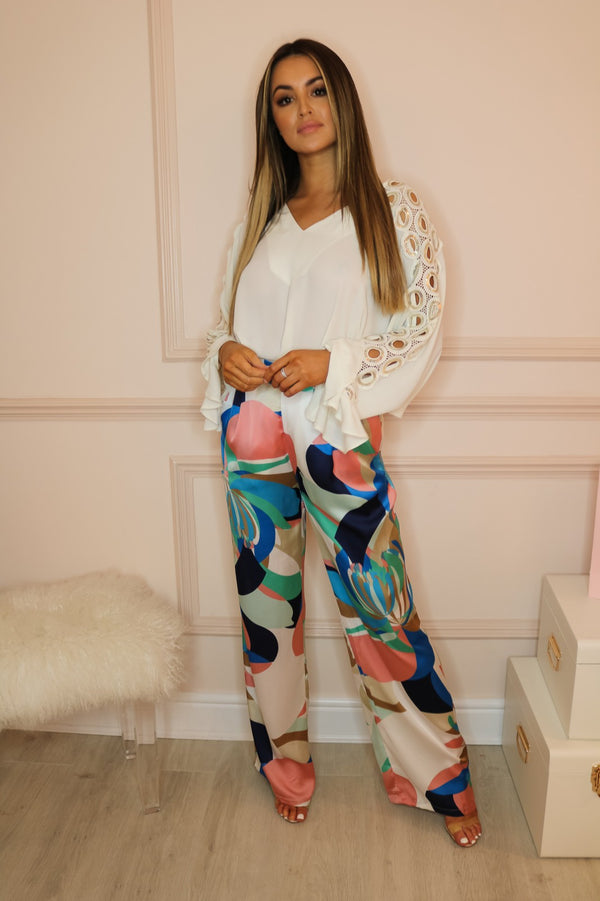 image 2 of PARADISO TROUSERS PINK/BLUE