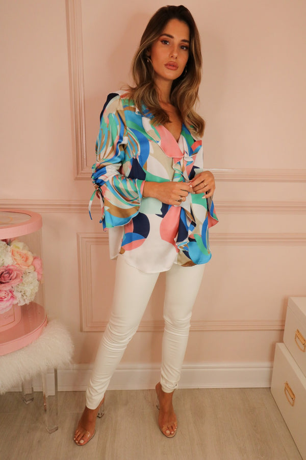 image 1 of PARADISO BLOUSE PINK/BLUE