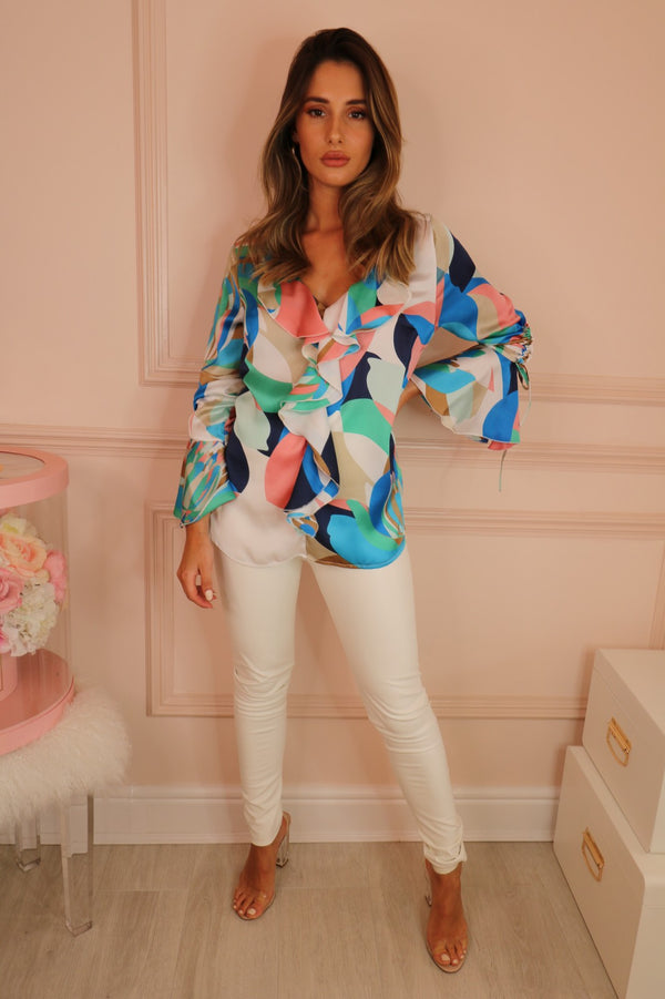 image 2 of PARADISO BLOUSE PINK/BLUE