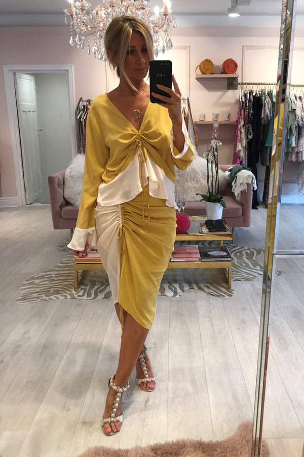 MUSTARD ROUGE TWO PIECE SET