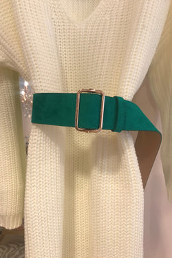image 1 of TURQUOISE FAUX SUEDE BELT