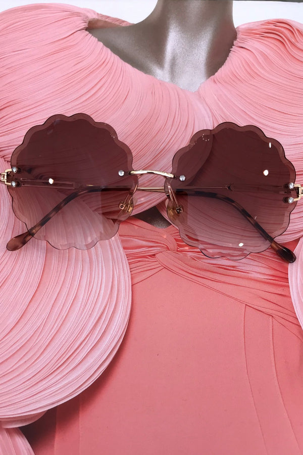 image 1 of NIKA FLOWER SUNGLASSES BROWN