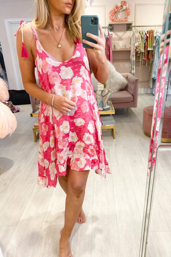 ROSA ELECTRIC ROSE PRINT DRESS